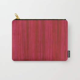 Strawberry Colored Vertical Stripes Carry-All Pouch