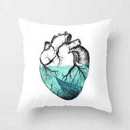 Sinking Heart Throw Pillow