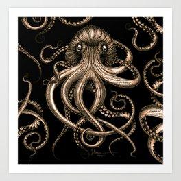 Bronze Kraken Art Print