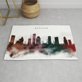 Houston Watercolor Skyline Rug