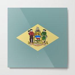 Flag of Delaware Metal Print