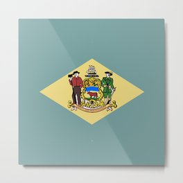 Flag of Delaware Metal Print