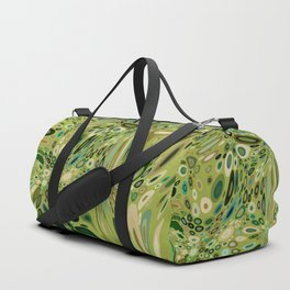 SOYLENT textured abstract in shades of green - lime to emerald Duffle Bag