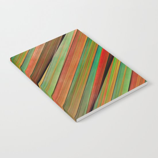 Colored stripes background no. 2 Notebook