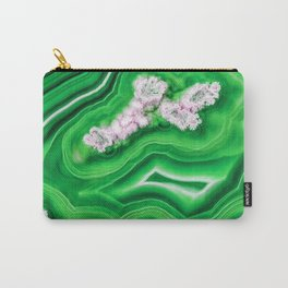 Green Island Agate Carry-All Pouch