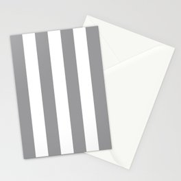 Vertical Stripes Gray & White Stationery Cards