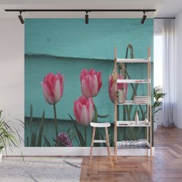 Tulips Against The Wall Wall Mural