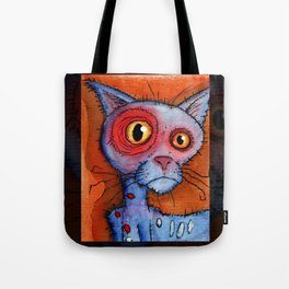 zombie cat Tote Bag