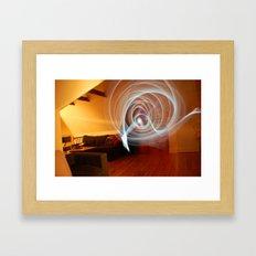 in waves Framed Art Print