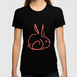 Girl with Rabbit T-shirt