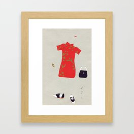 Chinese Silk Dress Outfit Framed Art Print