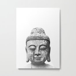 Buddha head Metal Print