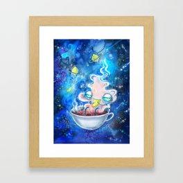 tea and the lemon universe Framed Art Print