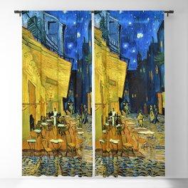 12,000pixel-500dpi - Vincent van Gogh - Cafe Terrace at Night - Digital Remastered Edition Blackout Curtain