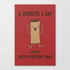 A Burrito A Day Canvas Print