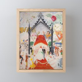 "Florine Stettheimer ""The Cathedrals of Fifth Avenue"" Framed Mini Art Print"
