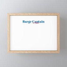 Barge Captain in Action Framed Mini Art Print