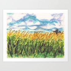 Lonely Scarecrow Art Print