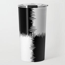 QUARTERS #1 (Black & White) Travel Mug