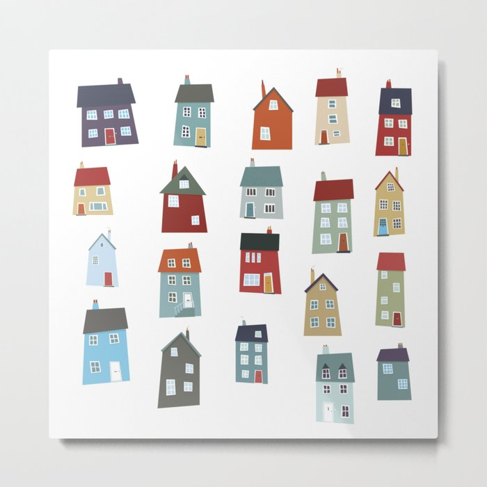 Little Houses Metal Print