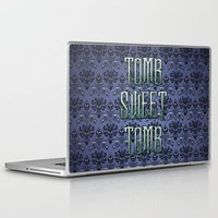 tomb raider Laptop & iPad Skins featuring Haunted Mansion - Tomb Sweet Tomb by Brianna