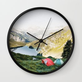 CAMP VIBES III / Switzerland Wall Clock