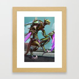 Krazy Khaz Lady Framed Art Print