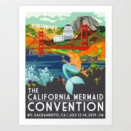 Poster Art ·•· California Mermaid Convention Art Print