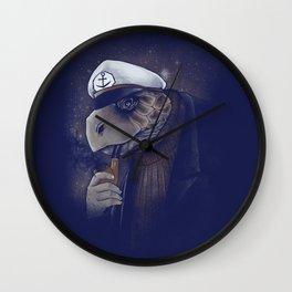 Turtlenecked Sea Captain Wall Clock