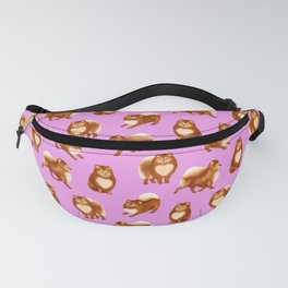 Pomeranian Pattern (Lilac Background) Fanny Pack