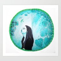 Broken Mirror of my imaginary World Art Print
