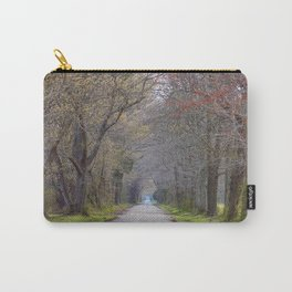 Trees parting the road   Wye Island, MD   Minimalist landscape photography Carry-All Pouch