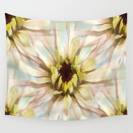 Painterly Seamless Pink Zinnia Wall Tapestry