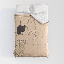 Egon Schiele - Lovers Comforters