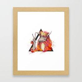 Peace of the Firey Framed Art Print