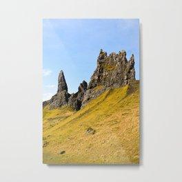 Rocks at Isle of Skye, Old Man of Storr Metal Print