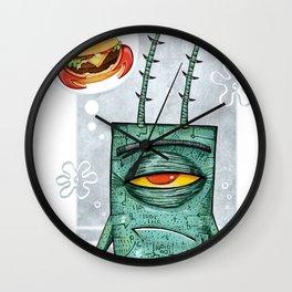 Sheldon James Plankton Jr Wall Clock