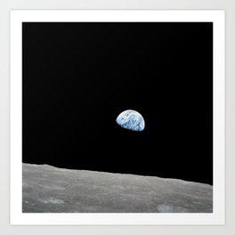 Apollo 8 - Iconic Earthrise Photograph Art Print