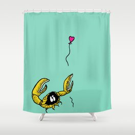 Crab loses her balloon Shower Curtain