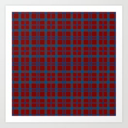 Tartan - Red and Blue Art Print
