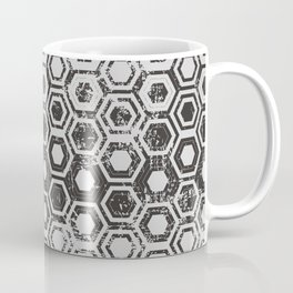 Worn hexagons Coffee Mug