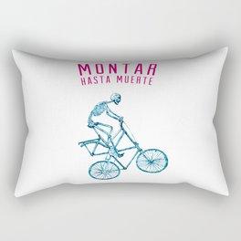 "Skeleton Bike - ""Montar Hasta Muerte"" Rectangular Pillow"