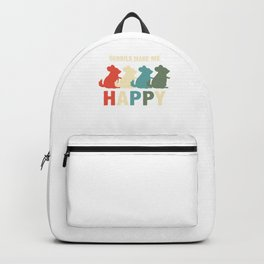 Gerbil Wildlife Rodents Mammal Animal Lovers Pet Owner Gerbil Make Me Happy Gift Backpack
