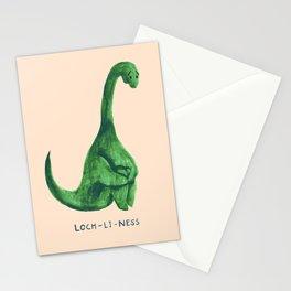 Lonely loch ness monster (loch-li-ness) Stationery Cards