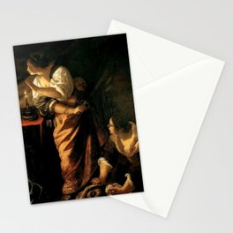 Artemisia Gentileschi - Judith and Maidservant with Head of Holofernes Stationery Cards