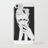 david lynch iPhone & iPod Cases featuring David Lynch by Olivier Carignan