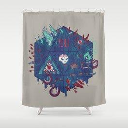Die of Death Shower Curtain