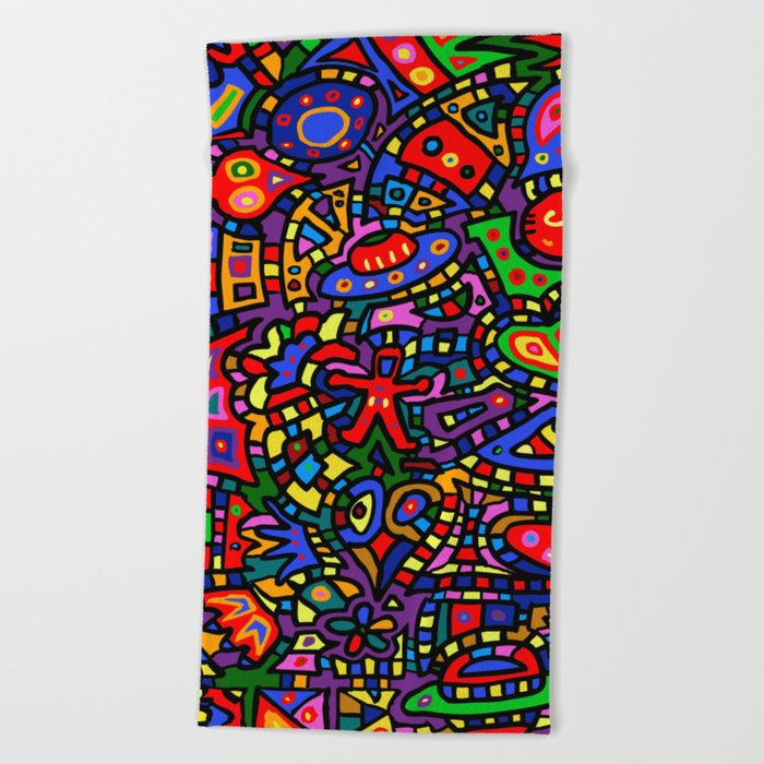 Abstract #453 Beach Towel