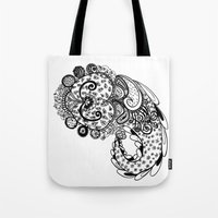 paisley Tote Bags featuring Paisley by Flavia Caponi
