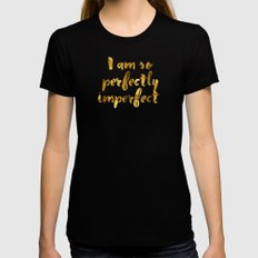 Perfectly Imperfect Womens Fitted Tee X-LARGE Black